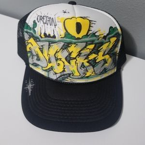 Custom Graffiti Style Oregon Ducks Hat